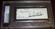 Jack Burke & Byron Nelson Dow Finsterwald Signed Cut FDC Golf Autograph - PSA/DNA Certified - Autographed Golf Equipment