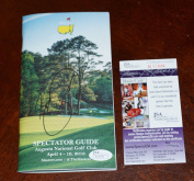 JASON DAY Signed 2016 MASTERS Golf Spectator Guide + COA R13446 - JSA Certified - Autographed Golf Equipment