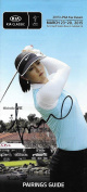 Michelle Wie Signed 2015 Kia Classic Golf Pairings Guide COA Autograph - PSA/DNA Certified - Autographed Golf Equipment