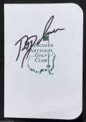 RYAN PALMER SIGNED AUGUSTA NATIONAL GOLF MASTERS TOURNAMENT SCORECARD COA K1