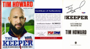 Tim Howard Signed - Autographed THE KEEPER Hardcover Book with PSA/DNA Authenticity - Everton - Team USA Soccer