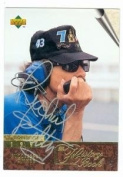 Autograph Warehouse 94213 Richard Petty Autographed Card Auto Racing Nascar 1996 Upper Deck No . 139 The History Book