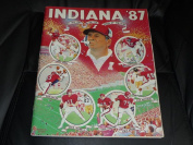 1987 INDIANA COLLEGE FOOTBALL MEDIA GUIDE EX-MINT BOX 40