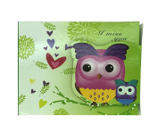 Cute Owl Colourful Notepad with Flap Seal