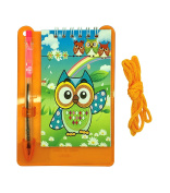 Wise Owl Mini Notebook with pen on Clipboard