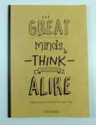 PartyErasers Blank Sheet Notebook - Great Minds ThinK Alike