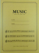 PartyErasers Music Manuscript Book - Brown Cover Music Enjoy the lovely day