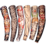 Hosaire 6pcs Novelty designs Skirt Fake Tattoo Sleeves arms / legs stockings stretch Temporary Dress Costume-Fancy Dress Stocking