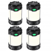 Hillmax 4 Pack Camping Lantern with 3 LED Modes White Light,Warm Light and Mixture Portable Outdoor Light Operated by AAA or AA Batteries for Camping, Fishing and Emergency