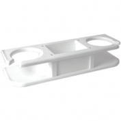 TACO White 2-Drink Cup Holder W/ Catch-All Tray Marine RV Boating Accessories
