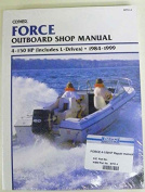 Clymer Shop Manual Force 4 - 150 Hp Outboards Includes L-Drives 1984-1999 WSM 751-4