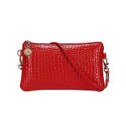 Bodhi2000 Womens PU Leather Crossbody Satchel Bag Tote Mini Messenger Handbag