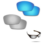 Fiskr Anti-saltwater Polarised Replacement Lenses for Oakley Hijinx Sunglasses 2 Pairs Packed