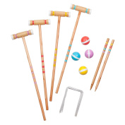 Sunnylife Full Croquet Equipment Set with Carry Bag for Portable Game Time