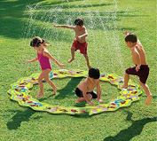 Inflatable Portable Splash Pad toys – anthonygift 170cm cartoon spray water sprinkler ring toys for summer outdoor swimming beach lawn sprinkler party children kids