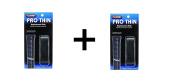 Tourna Tennis Badminton Racquet Replacement Grip Pro Thin 1.25mm, Black