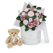 Babyblooms Luxury Bouquet And Teddy Bear, Pink