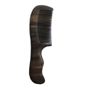 Sandalwood Handmade Hair Comb with Handle | Anti-Static Detangling Natural Aroma | Large Premium Wooden Comb for Hair Care