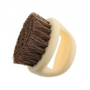 Philna12 Horseshoe Shape Horse Hair Soft Shoe Brush