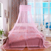WANGXQ Mosquito Protection Mosquito Net Dome Hanging Bed Mantle Single Door Open Polyester , pink , B