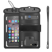 Waterproof Case, GoFree Underwater Phone Case TPU Pouch Dry Bag with Strap Armband Waterproof Phone Case for iPhone 6 6s plus 7 7S plus SE Cellphone Samsung Galaxy Note4 S6 S7 Edge HTC LG Sony