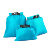 UEETEK 3pcs 1.5L+2.5L+3.5L Waterproof Dry Bag for Camping Boating Kayaking Rafting Fishing