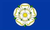 New YORKSHIRE ROSE COUNTY Flag Large 1.5m x 0.9m with 2 metal Eyelets
