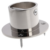 Decking Rope Post Fitting-Rope Cup End Chrome Upto 36mm
