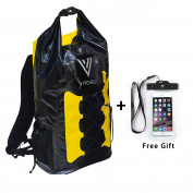 VITCHELO 30L Dry Bag. Waterproof Backpack With Padded Shoulder Straps & Adjustable Sling. Suitable for Boating, Camping & Kayaking. Phone Case Included