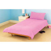 COT BED DUVET COVER WITH PILLOWCASE- SUPERIOR NATURAL COTTON RICH 120 X 150 CM - DUSKY PINK