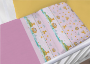 100% Cotton Bedding Set for Cot Bed in Set Model 6477 Lettino 6477 Rosa