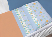 100% Cotton Bedding Set for Cot Bed in Set Model 28736 Lettino 28736 Azzurro