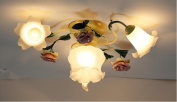 ZSYZD Ceiling Lamp Pastoral Fashion Girl Warmer Bedroom Living Room Ceiling Light , 3