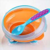 GRyiyi Rotatable Baby Bowl Toddler Suction Bowl with Spoon