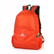 TOFINE Foldable Lightweight Nylon Backpacking Backpack Carry on Mini Daypack for College Orange 25L