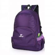 TOFINE Climbing Daypack Kids Foldable Backpack Waterproof Ressitant Purple 25L