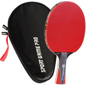 Sport Game Pro Ping Pong Paddle with Killer Spin – Table Tennis Paddle with Comfort Grip 2.0 mm Spunge – Table Tennis Racket Bat with Gift Box