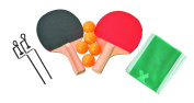 Table Tennis Travel 10 Piece Set - Includes 2 Paddles 5 Ping Pong Balls Net Posts And Net Fits Tables Up To 120cm Wide - Ideas In Life