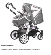 Smart-Planet Premium Universal Infant Baby Carriage Transparent Raincover with Air Ventilation/ perfect wind protection