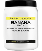 Stapiz Professional Hair Mask with Banana Extracts – 1 Litre with Pump