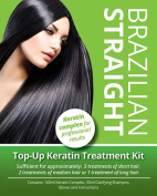 Brazilian Straight, (Top-Up) Keratin Home Use Treatment Kit, Salon Quality Hair Straightening /Blow Dry, 100ml.