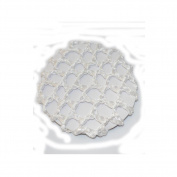 White Shiny Elasticated Bun Net 7cm