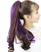 BarRan Lady Clip In Ponytail Pony Tail Hair Extension Claw On Hair Piece curly wavy