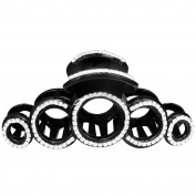 OMYGOD Large black hair claw clamp clip with crystal cicles - 13cm x 5.5cm x 5cm