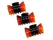 La Peach Fashions Pack Of Three 4cm Ladies Hair Clamps Hair Claw Clips Hair Accessory Clamps