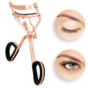 Eyelash Curler,Hibote Professioner Lash Curler with [ 6 Replacement ] Refill Pads Silicone, Rose Gold Colour – Premium Steel to Get Beautiful Eye Lashes
