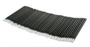 Gracelaza 50 Pieces Disposable Lip Brushes Lipstick Gloss Wands Applicator Makeup Tool Kits, Black