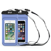 [2 Packs] Bfull Waterproof Phone Case With Dual Waterproof Measures, Universal Cell Phone Dry Bag Pouch for Outdoor Activities for Devices up to 6.0''