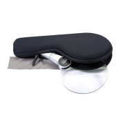 dorr LL-110 110 mm LED Magnifier with Carry Case - Silver