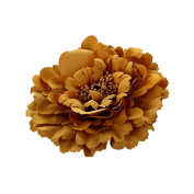 Stofirst Women Girls Artificial Floral Hair Clips Corsage Brooch Wedding Bridal Festival Party Beach Sweet Big Peony Flower Hairpins Barrette Hair Accessories